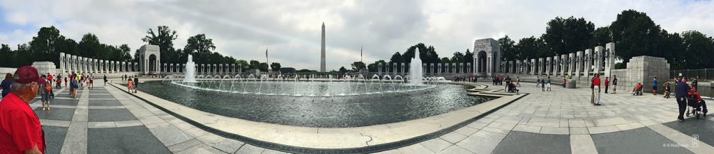 World War II Monument in panorama